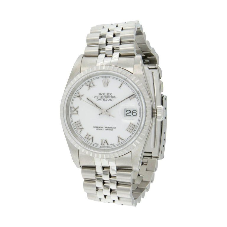 Never Worn Rolex Stainless Steel Oyster Perpetual Datejust Watch #stainlesssteelrolex
