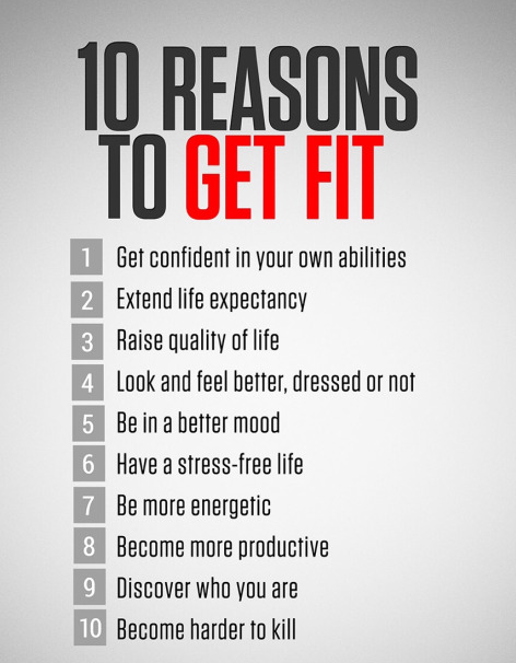 [Image] 10 Reasons to Get Fit