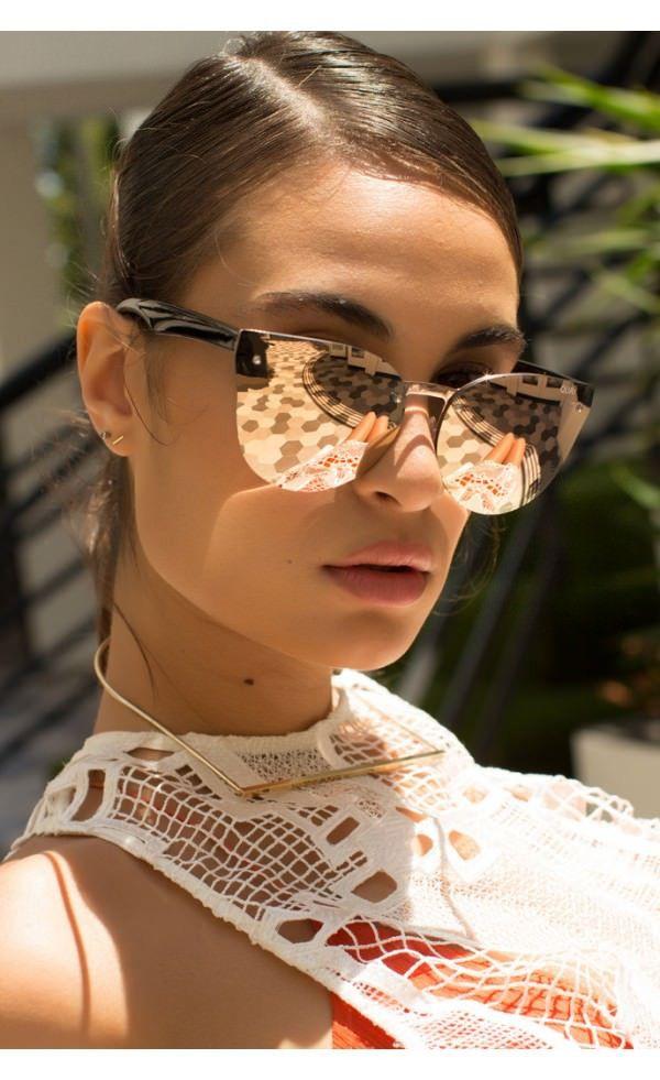 e9a58d22dff Quay Australia HIGHER LOVE Rose Gold Designer Sunglasses