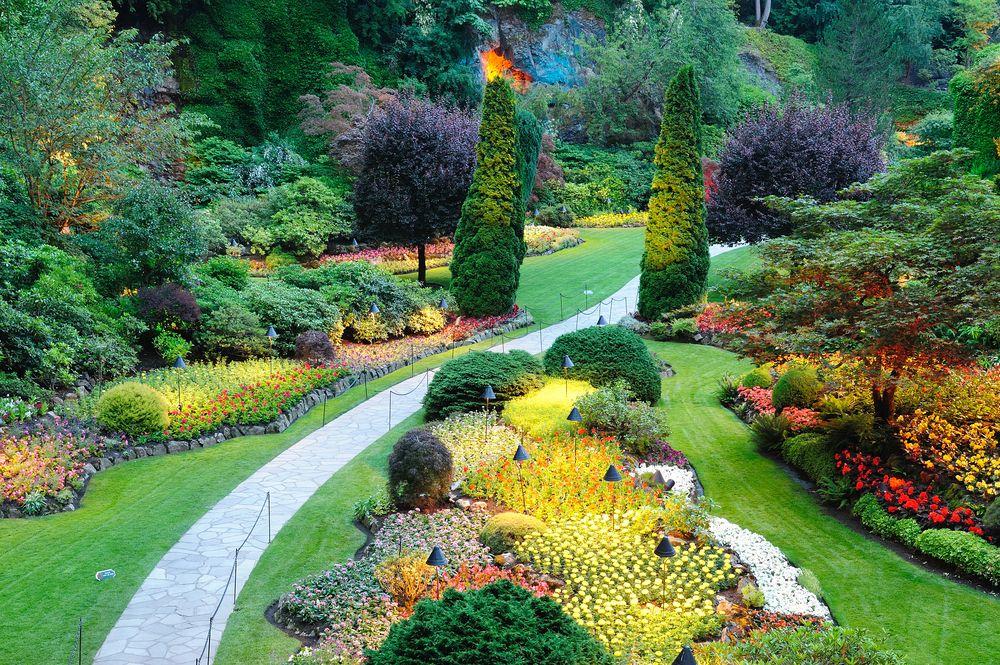 Красивое оформление сада в картинка