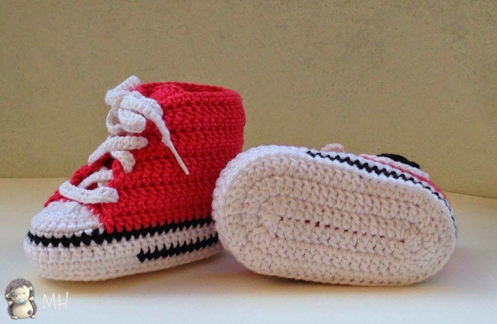 fe31bde19 zapatillas para bebes al crochet