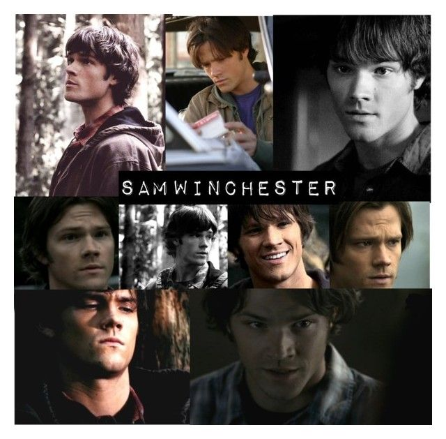 """Sam winchester collage"" by gglloyd ❤ liked on Polyvore featuring SAM, ANNA, women's clothing, women's fashion, women, female, woman, misses and juniors"
