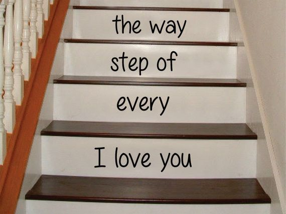 Photo of I Love You Every Step of the Way Stairs Decor Decal Sticker Wall Vinyl Art – green