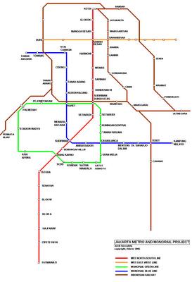 Jakarta Metro Indonesien Planer Vietnam