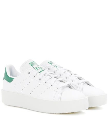 online retailer d0119 45aa3 Stan Smith Bold Leather Sneakers. Stan Smith Bold White And Green Leather  Sneakers By Adidas Originals , deportivas, sport, deporte, deportivo,  fitness, ...