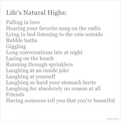 Life's Natural Highs