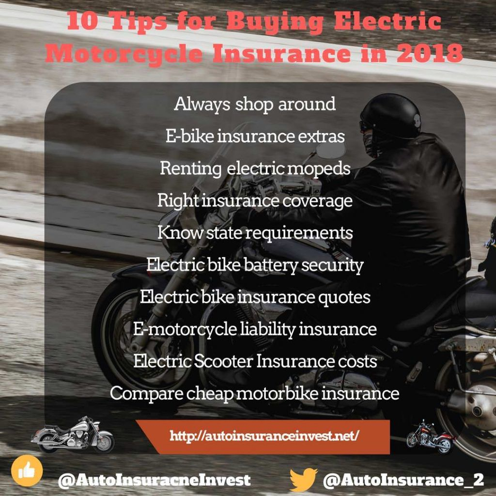 10 Tips For Electric Motorcycle Insurance Buyers In 2018 Car