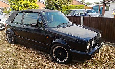 vw 1993 golf mk1 gti sportline 1 8 black convertible cabriolet. Black Bedroom Furniture Sets. Home Design Ideas