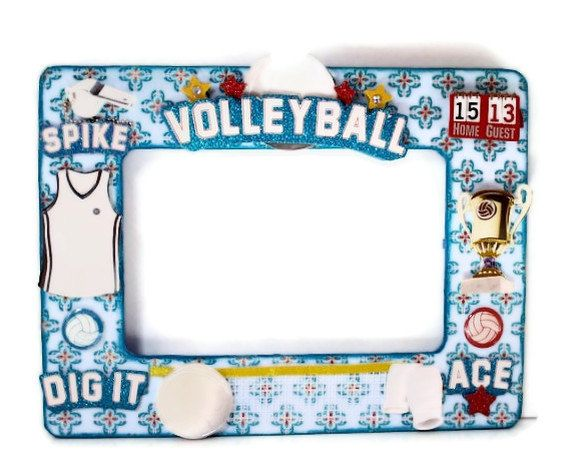 Volleyball picture frame, by AuriesDesigns, via Etsy ...