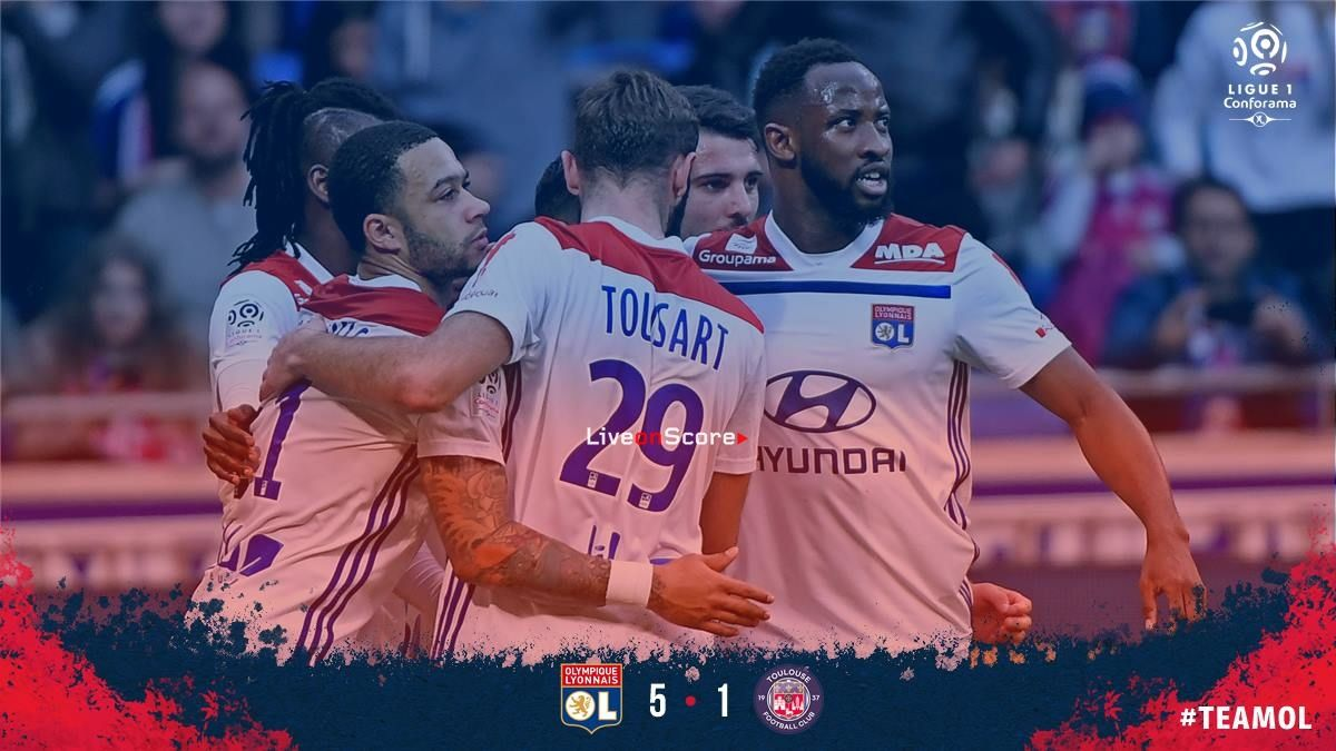 Lyon 51 Toulouse Full Highlight Video France Ligue 1