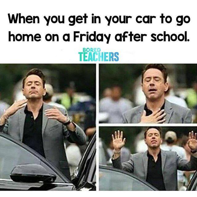 T G I F Teachers Grateful It S Friday Funny Parenting Memes Mom Humor Laughing So Hard