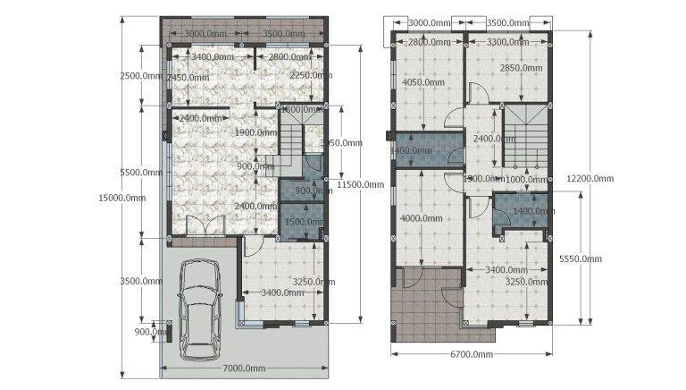 Home Design Plan 7x15m With 5 Bedrooms Samphoas Plan Home Design Plan Simple House Design House Design Simple house plan in mm