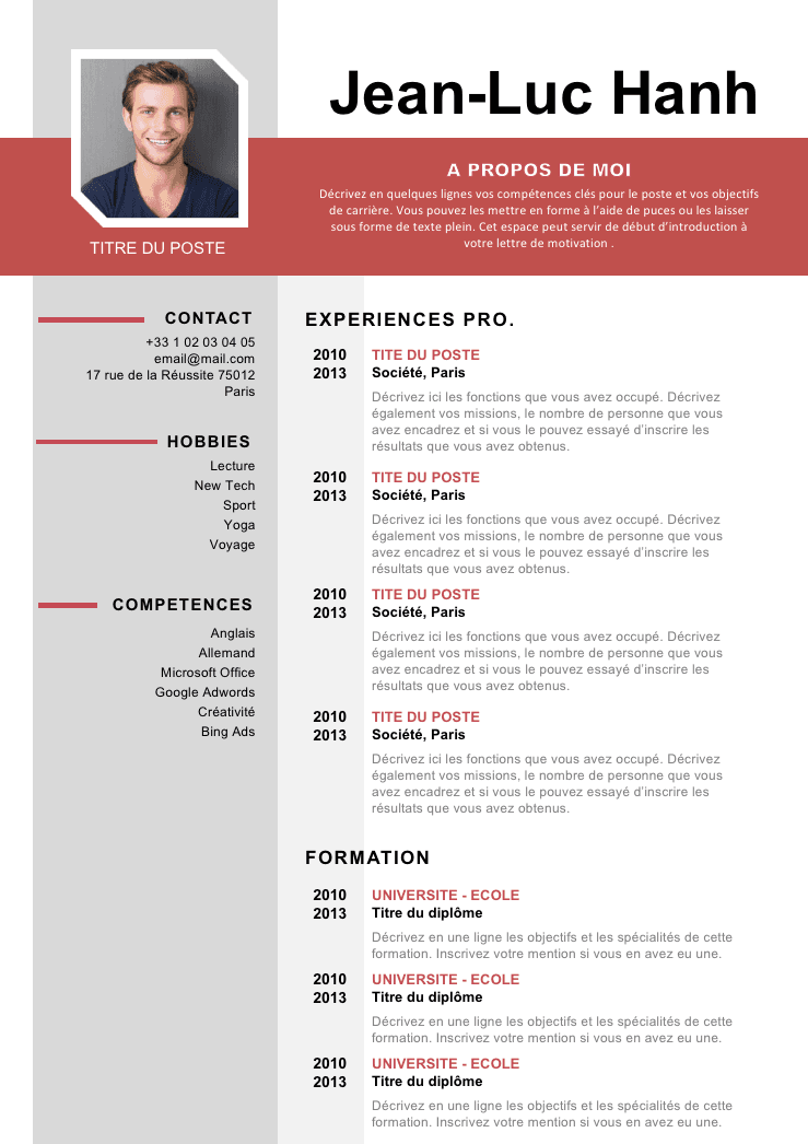 cv 124 pole emploi design pinterest resume cv