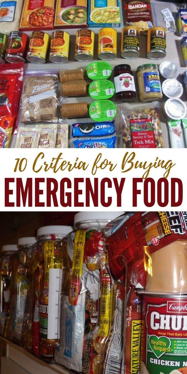 10 Criteria for Buying Emergency Food - SHTFPreparedness.com #hurricanefoodideas