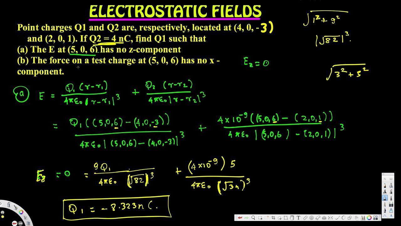Find Q1 Electrostatics Electromagnetic Field Electromagnetic Field Field Fields