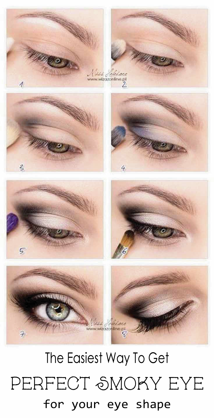 the easiest way to get the perfect smokey eye for your eye