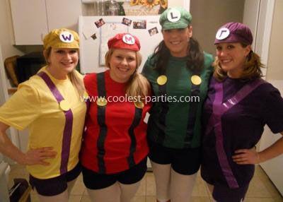 Coolest Mario Bros Group Costume Mario Costume Diy Couples Costumes Mario Costume