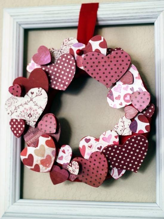 herzenkreis t rdekoration zum valentinstag corazones pinterest. Black Bedroom Furniture Sets. Home Design Ideas