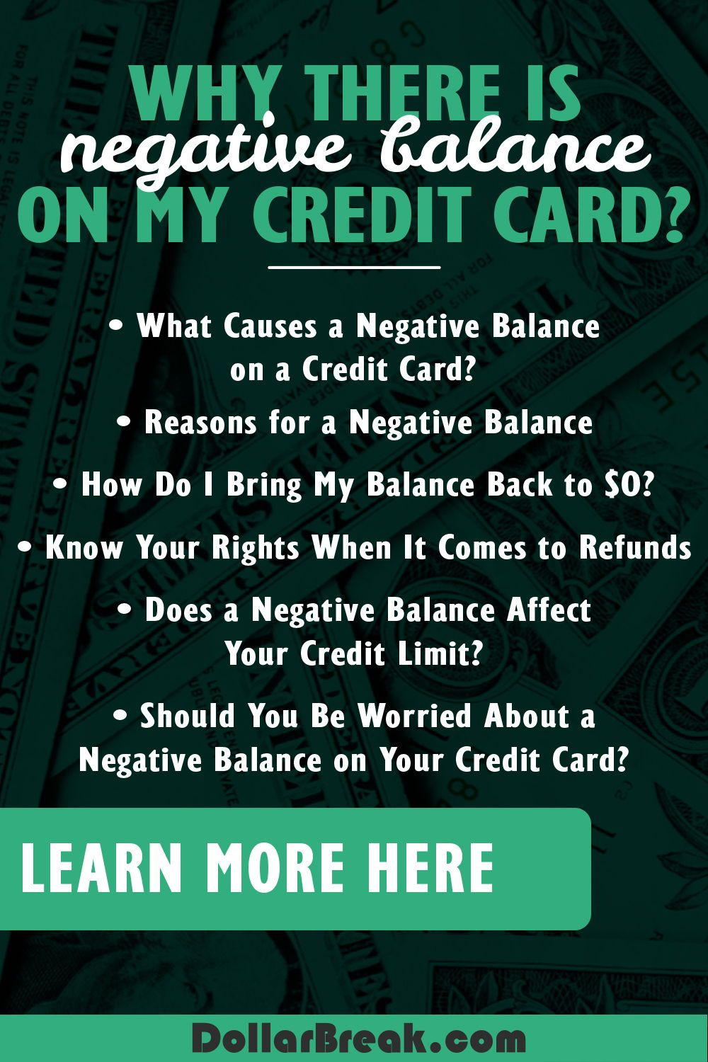 Discovered negative balance on credit card heres what to