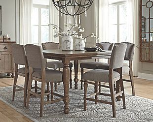 The Tanshire Counter Height Dining Room Table From Ashley Furniture  HomeStore (AFHS.com). | Dining Table U0026 Chairs | Pinterest | Dining Room  Table, Room And ...