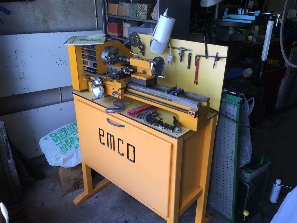 Inredning maskiner och verktyg : Svarv av märket Emco på Tradera.com - Svarv   Maskiner   Bygg ...