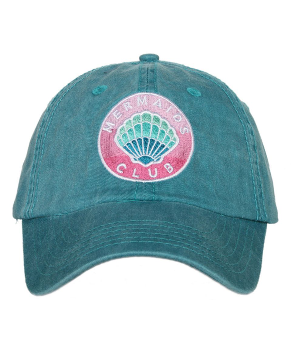 Take a look at this Katydid Collection Teal  Mermaid Club  Baseball Cap  today! d5a9a9e0cc22