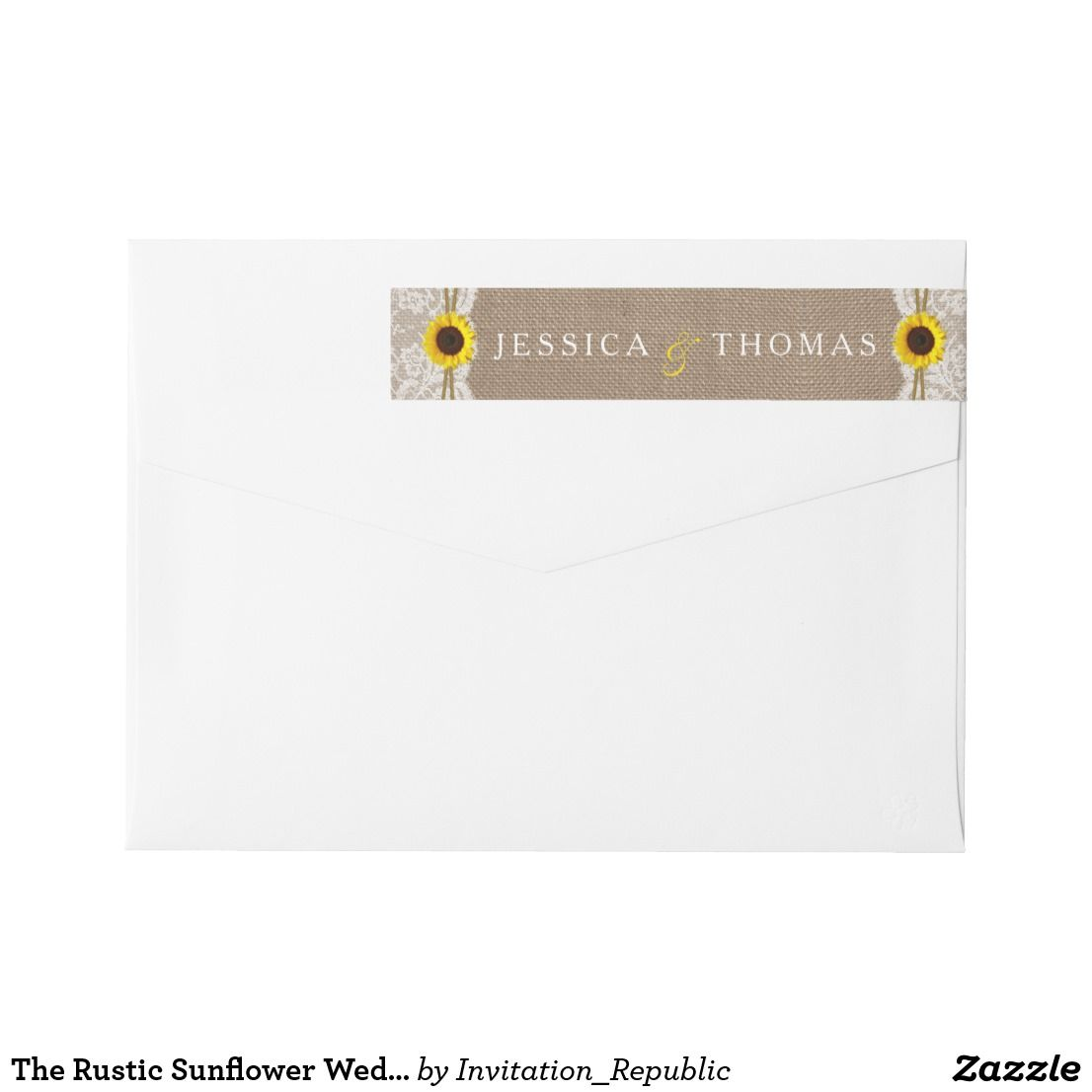 The Rustic Sunflower Wedding Collection Labels Rustic Sunflower