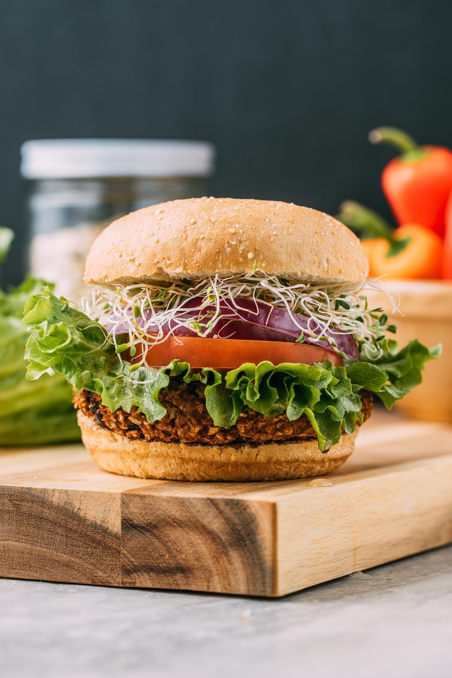 Plant Based Pumpkin Seed Veggie Burgers Recipe Veeg Recipe Veggie Burgers Recipe Veggie Burger Burger Recipes