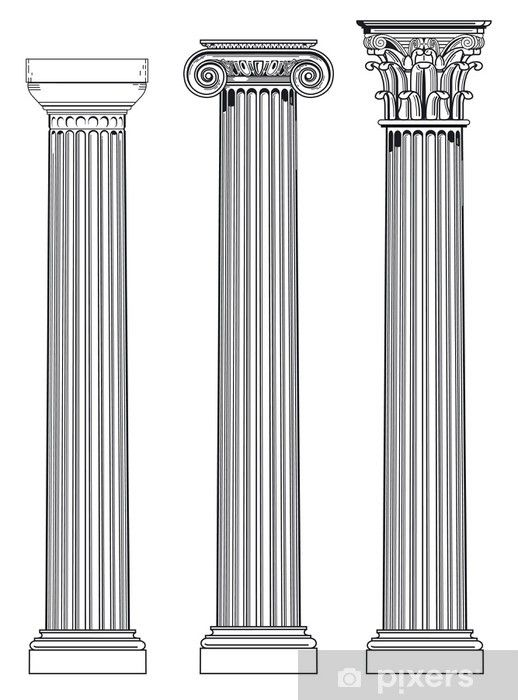 Drei Saulen Wall Mural Pixers We Live To Change In 2021 Ancient Greek Architecture Architectural Columns Greek Columns
