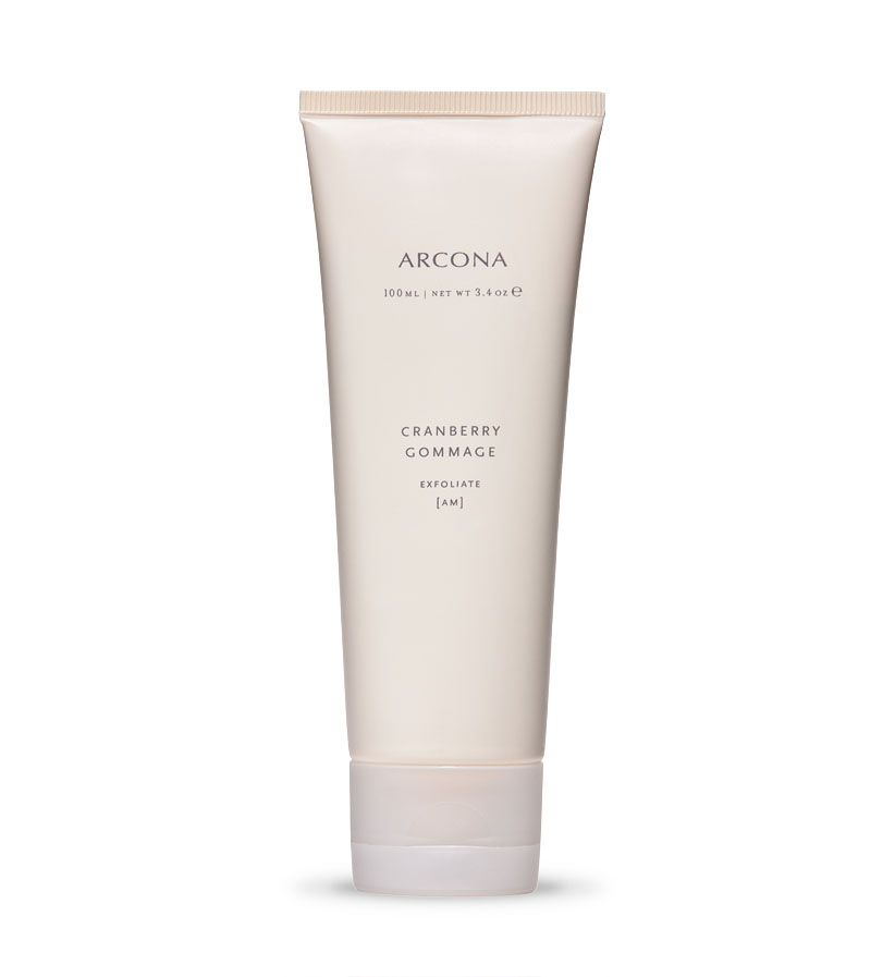 Skin Care By ARCONA - Hollywood and Los Angeles' Leading Facial Spa Cranberry Gommage - 100ml: Purifying exfoliant cleanses, tones and decongests enlarged pores, leaving skin visibly clearer, smoother and more refined. Unclog and minimize pores with cranberry and raspberry enzymes. Exfoliate and purify skin with zeolite and sucrose. Helps protect skin with the anti-aging properties of antioxidants that reduce free radical damage.