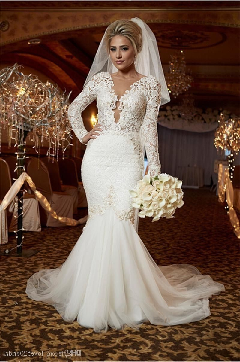 Long Sleeve Mermaid Trumpet Wedding Dresses