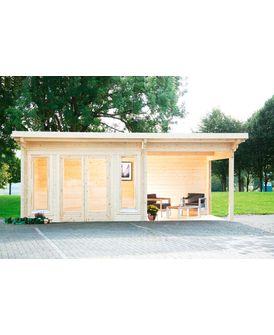 WOLFF Set Gartenhaus »Trondheim 70D XL«, BxT 670x450 cm