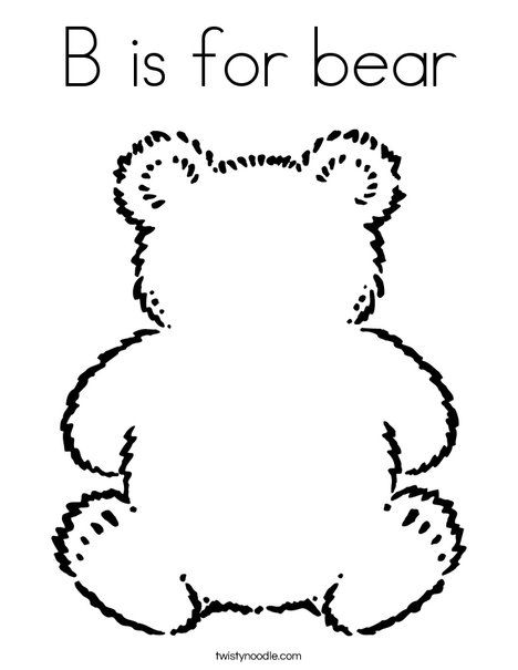 B Is For Bear Coloring Page Teddy Bear Coloring Pages Bear Coloring Pages Teddy Bear Picnic