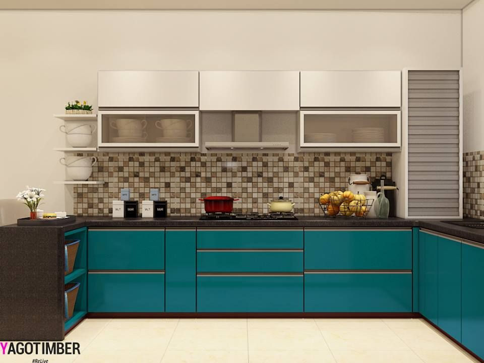 Stylish modular kitchens with such color scheme