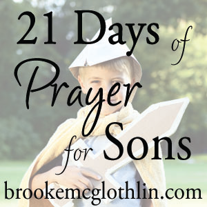 May 1-21, 2012 Warrior Prayers.  A blog and an E-Book challenging moms to  21 days of directed prayers focused on raising boys (but also prayed by moms of girls for their future sons-in-law!)