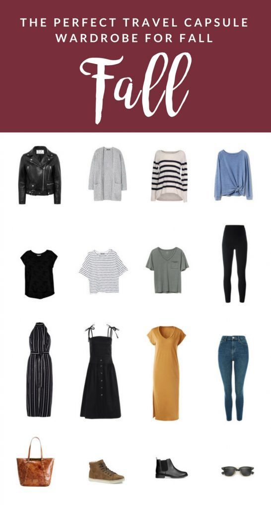 8e7c098abf0 Here s the perfect travel capsule wardrobe for fall! A very simple formula  to pack light and be stylish.  fallcapsulewardrobe  fallcapsuletravel   ...