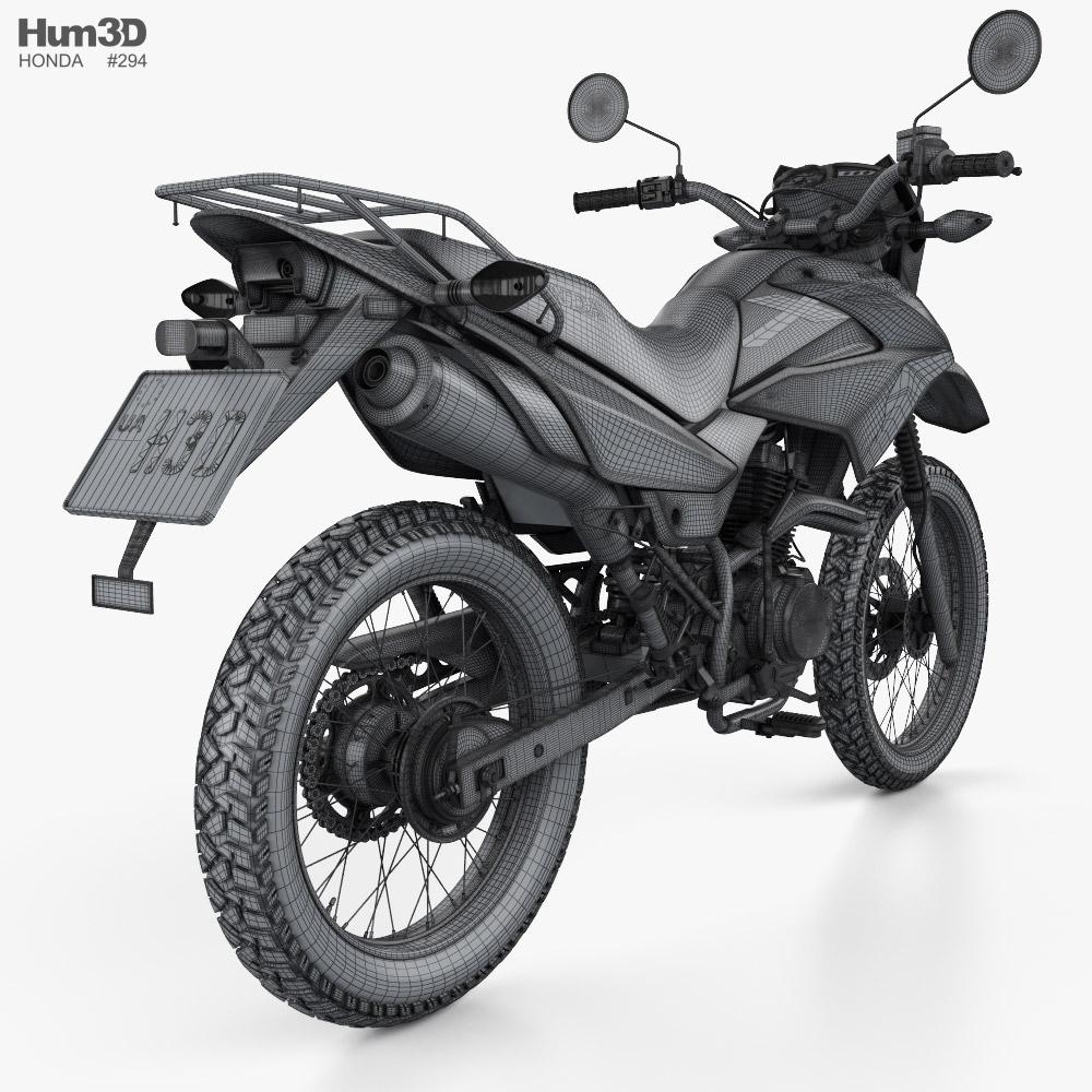 3d Model Of Honda Xr150 L 2020 In 2020 Honda 3d Model Automotive