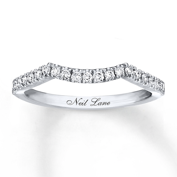 Neil Lane Wedding Band 1 4 Ct Tw Diamonds 14k White Gold White Gold Fashion Rings Diamond Stone