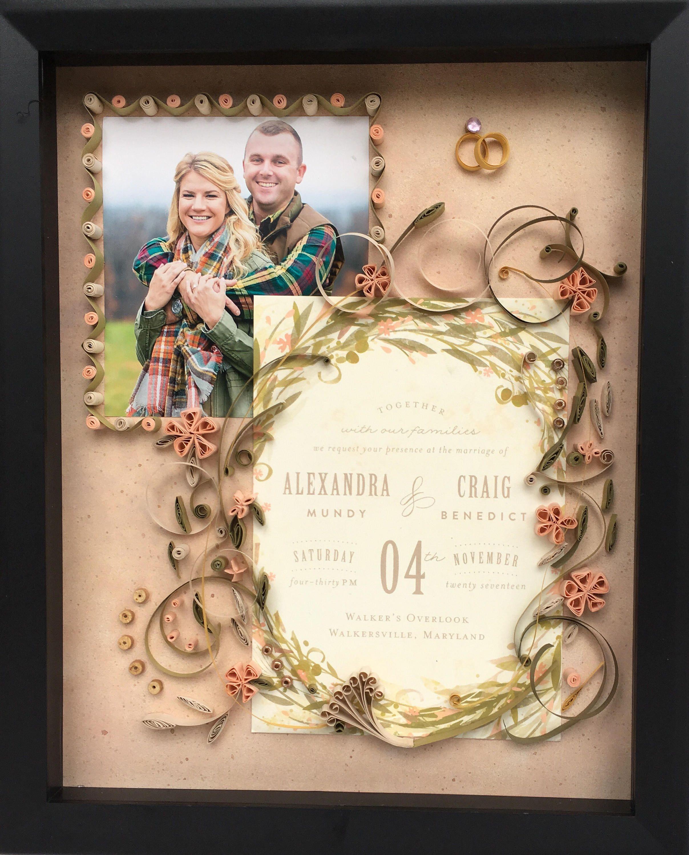 Customized Wedding Invitation Keepsake - memorable keepsake for ...