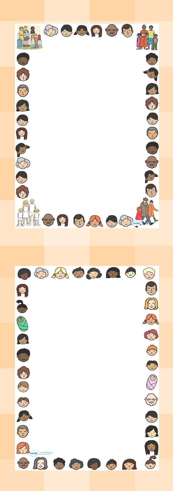 preschool page border