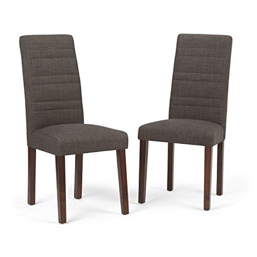 Simpli Home Gibson Dining Chair, Midnight Grey (Set Of 2)