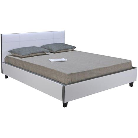 lit adulte viva avec sommier 160x200cm les. Black Bedroom Furniture Sets. Home Design Ideas