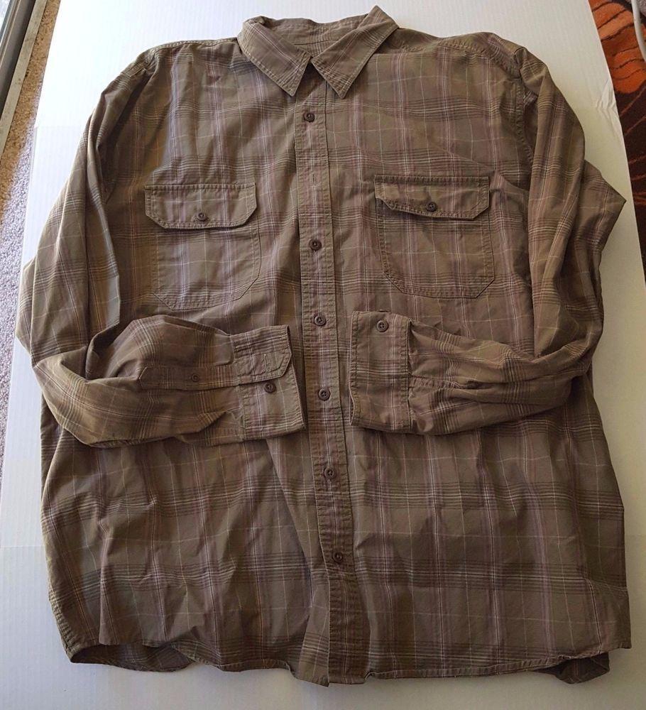 Eddie Bauer Mens Long Sleeve Flannet Shirt 2XL Green Size XXL ...