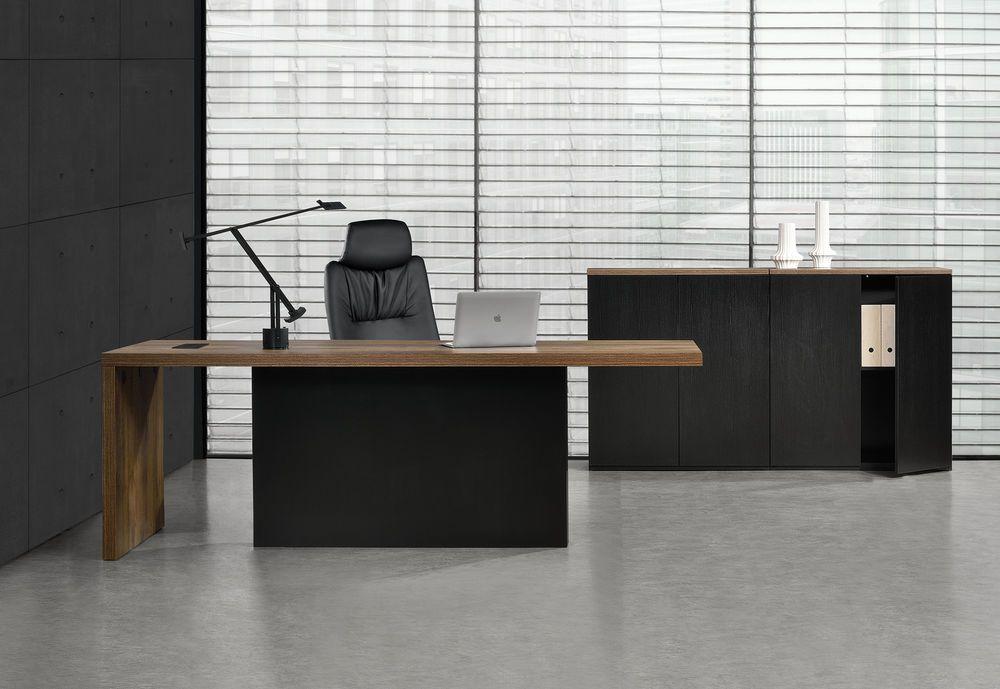 neu.haus] Chefschreibtisch + 2 Aktenschränke Chefzimmer Schreibtisch ...