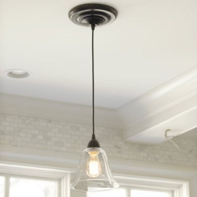 update recessed lighting with a pendant adaptor several glass or