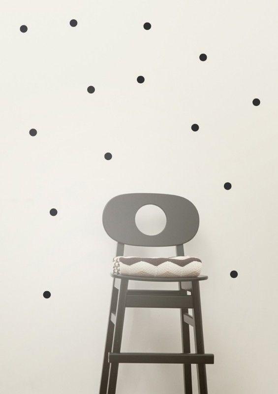 Schwarze Punkte Wandsticker, Mini Dots, Von Ferm Living