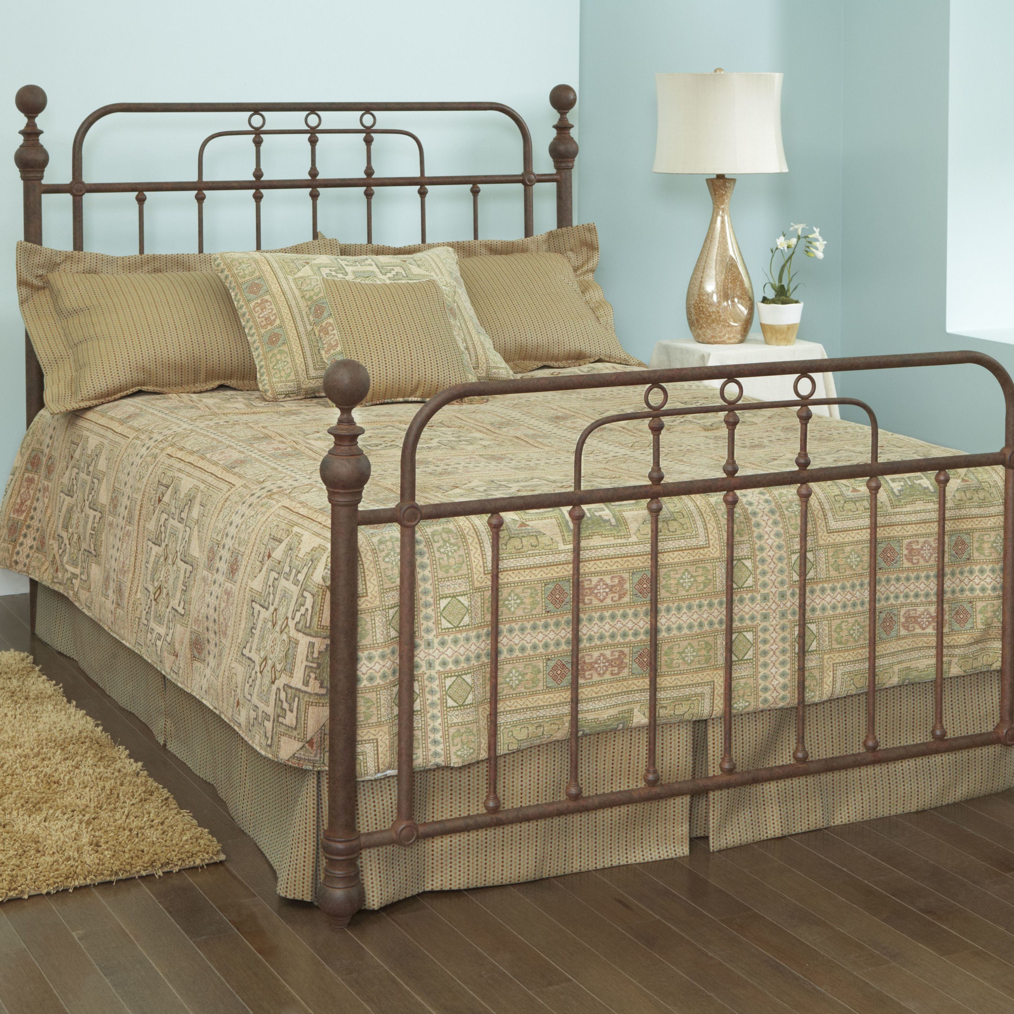Livingston Queen Metal Bed w/ Crystal Coaster Home