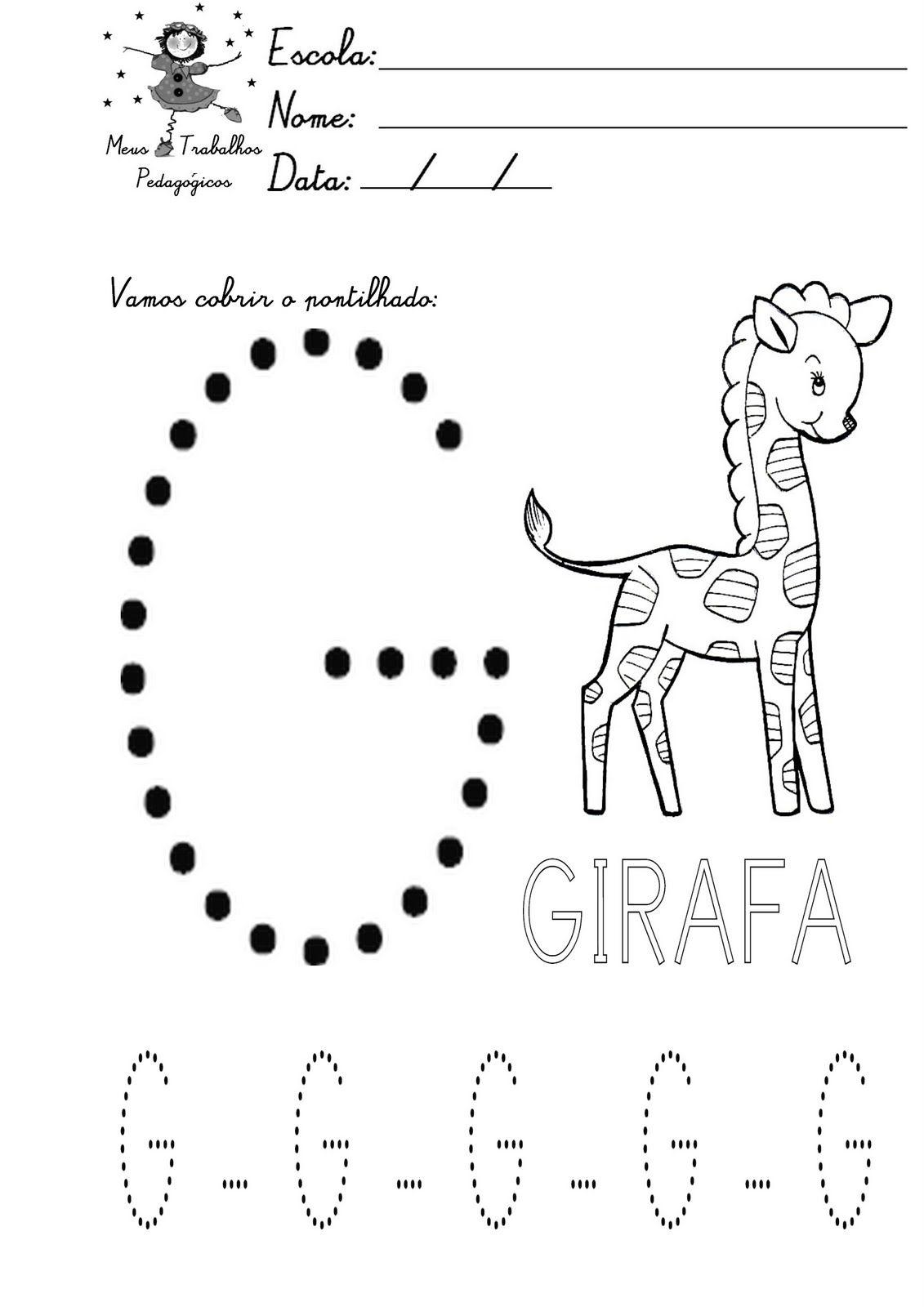 Preferência ATIVIDADES COM A LETRA G para educação infantil - Pesquisa Google  PO81