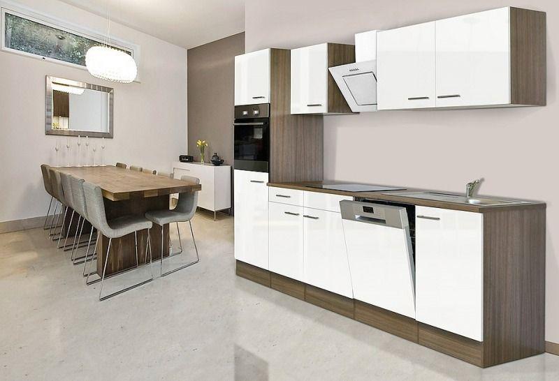 küchenzeile mit egeräten »york« breite 280 cm