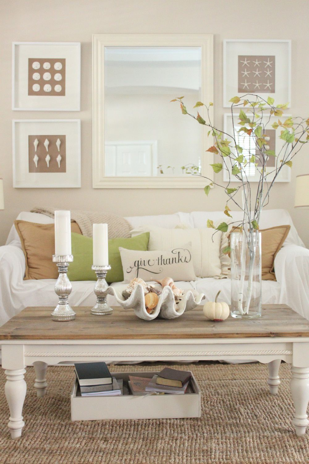 Softer Fall Colors for the Living Room - Starfish Cottage | fall ...